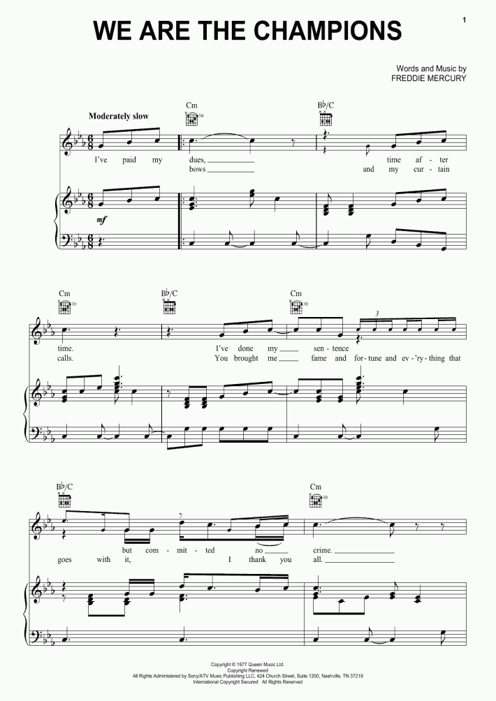 Killer Queen Piano Sheet Music | OnlinePianist