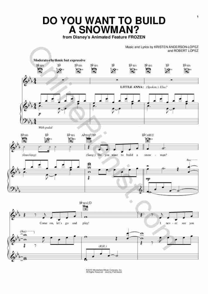 Let It Go Frozen Piano Sheet Music Onlinepianist