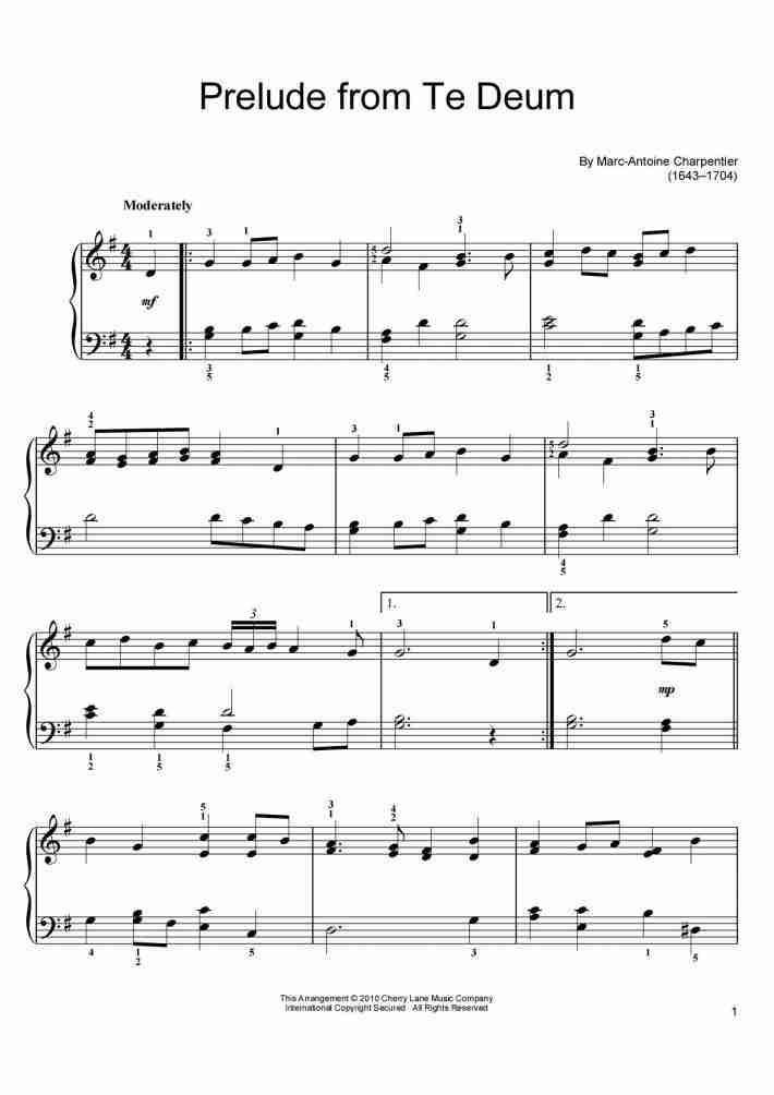 Eurovision Theme Piano Sheet Music Onlinepianist