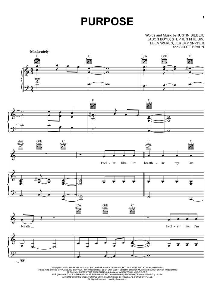 Purpose Piano Sheet Music Onlinepianist