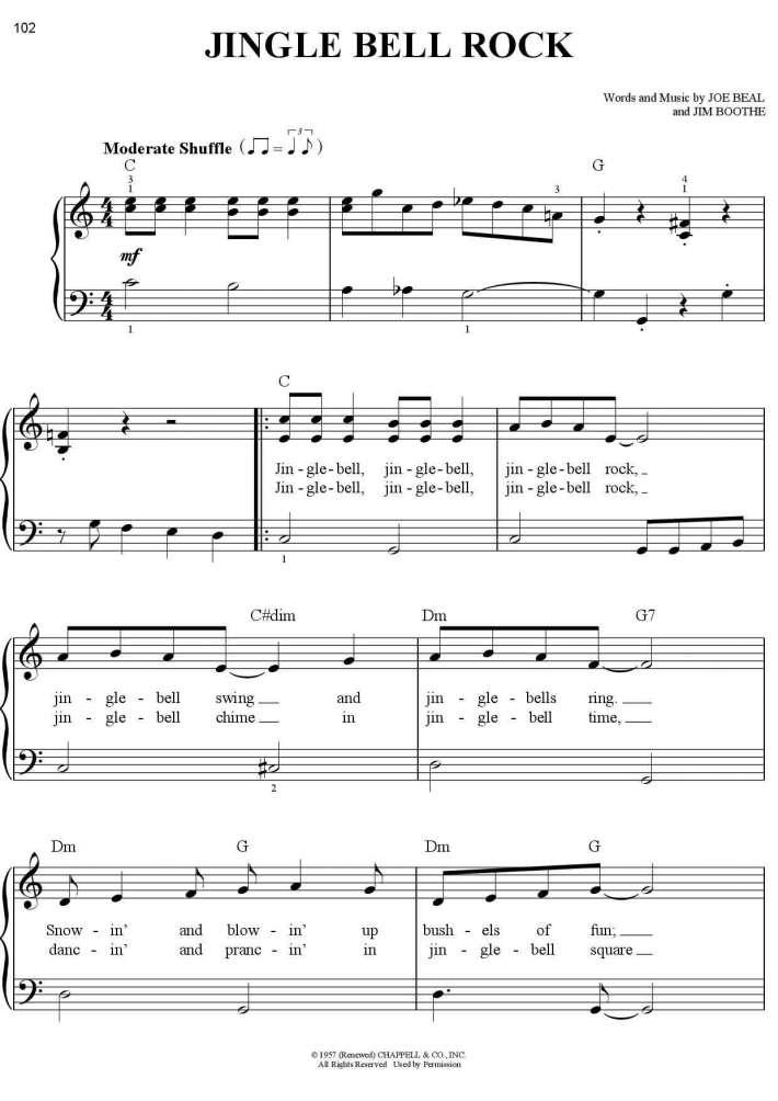 Jingle Bell Rock Piano Sheet Music Onlinepianist