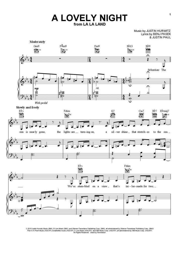 a lovely night piano sheet music onlinepianist. Black Bedroom Furniture Sets. Home Design Ideas