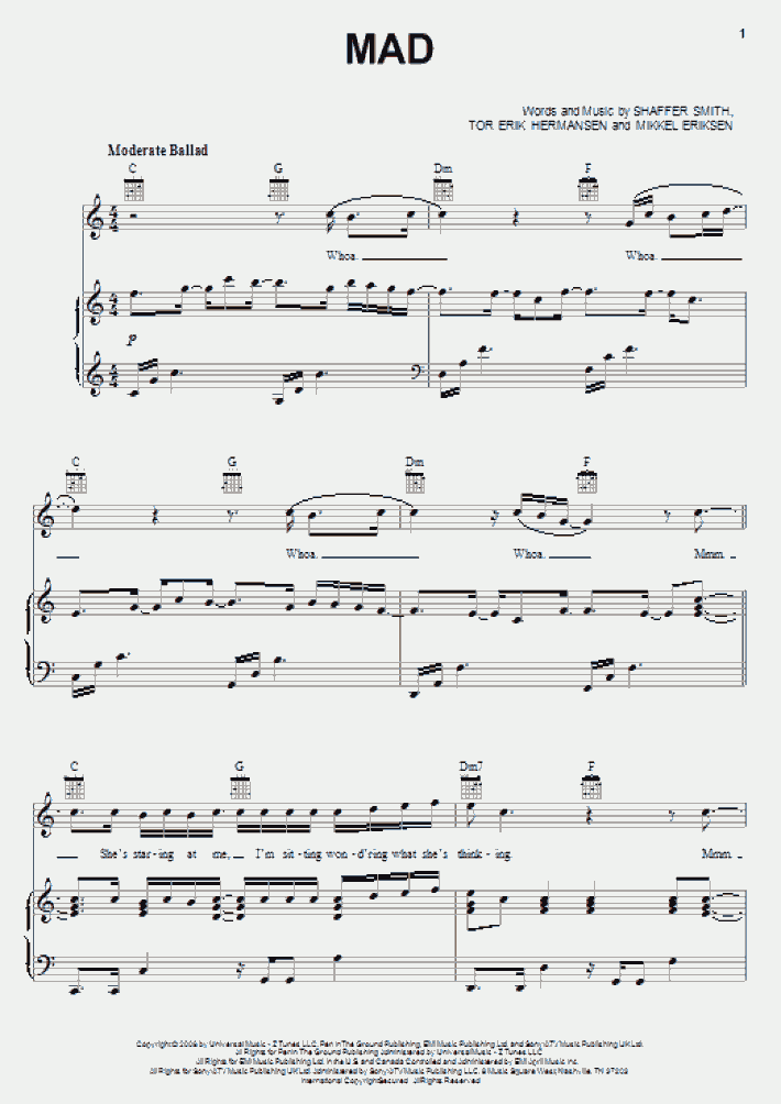 Mad Piano Sheet Music Onlinepianist