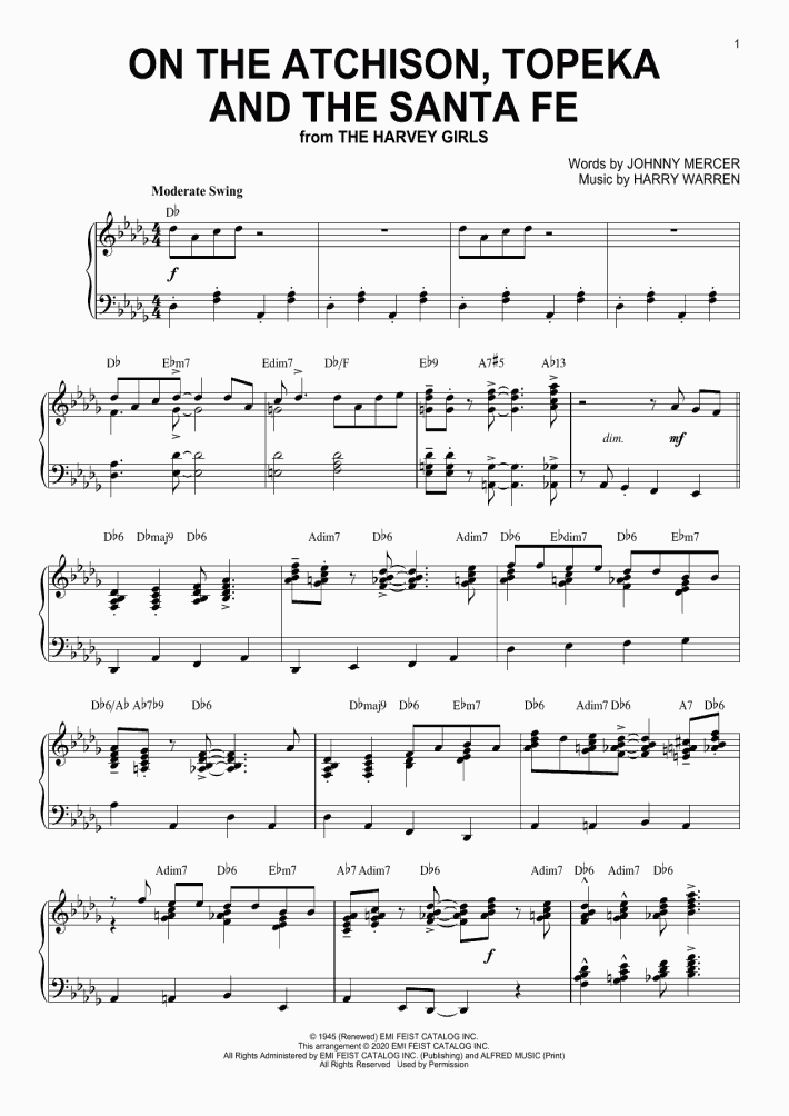 On The Atchison, Topeka And The Santa Fe [Jazz version] (arr. Brent Edstrom)