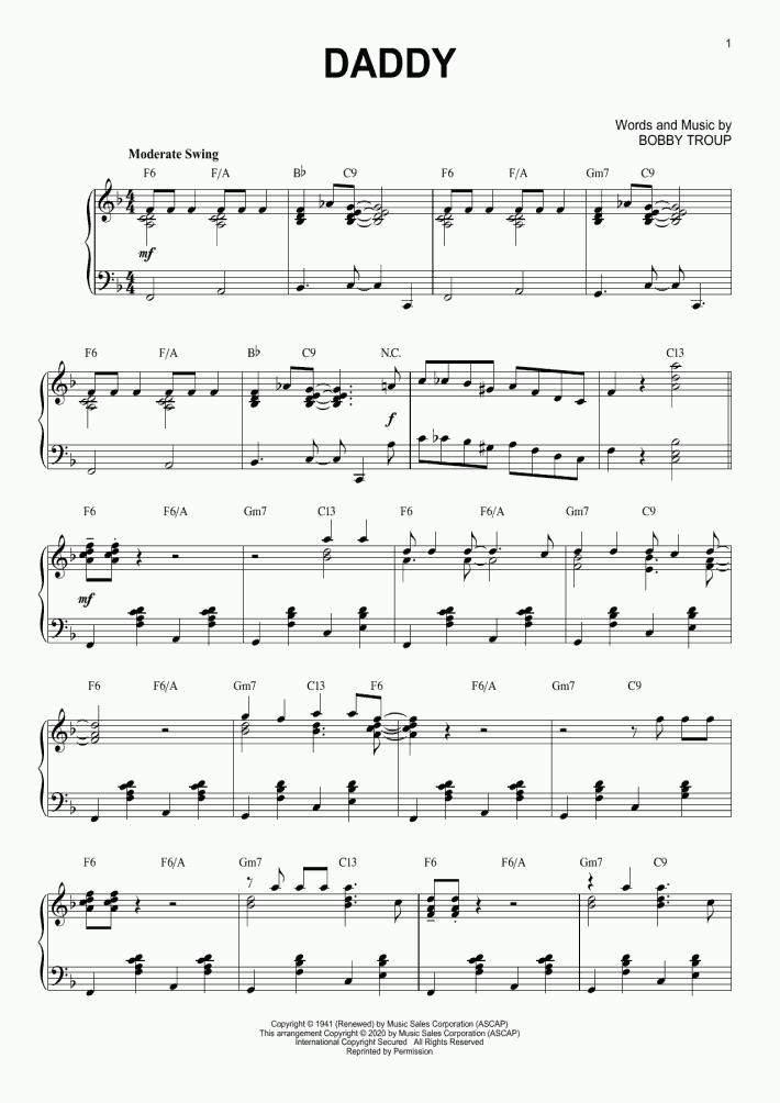 Daddy [Jazz version] (arr. Brent Edstrom)