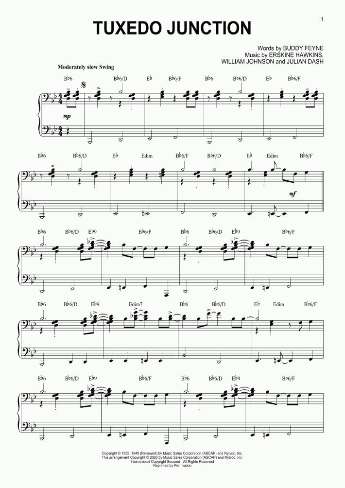 Tuxedo Junction [Jazz version] (arr. Brent Edstrom)