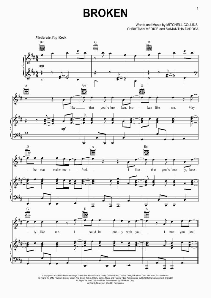 Broken Piano Sheet Music | OnlinePianist