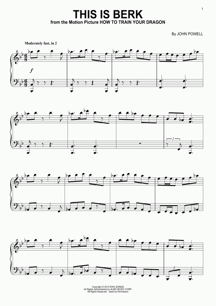 This Is Berk Piano Sheet Music Onlinepianist
