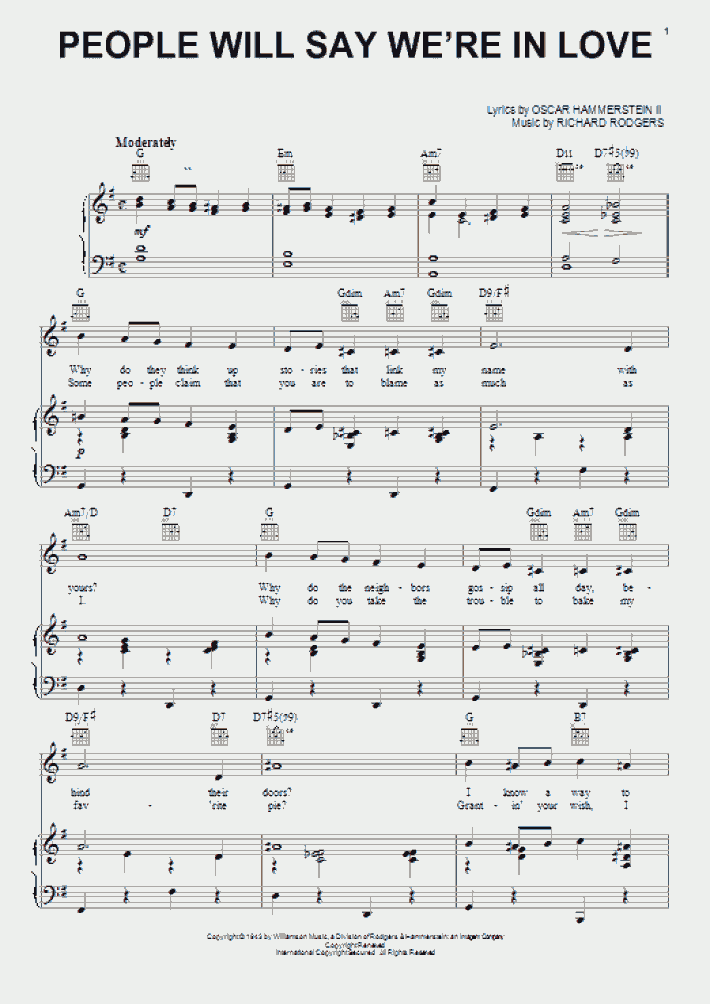people will say we're in love piano sheet music  onlinepianist