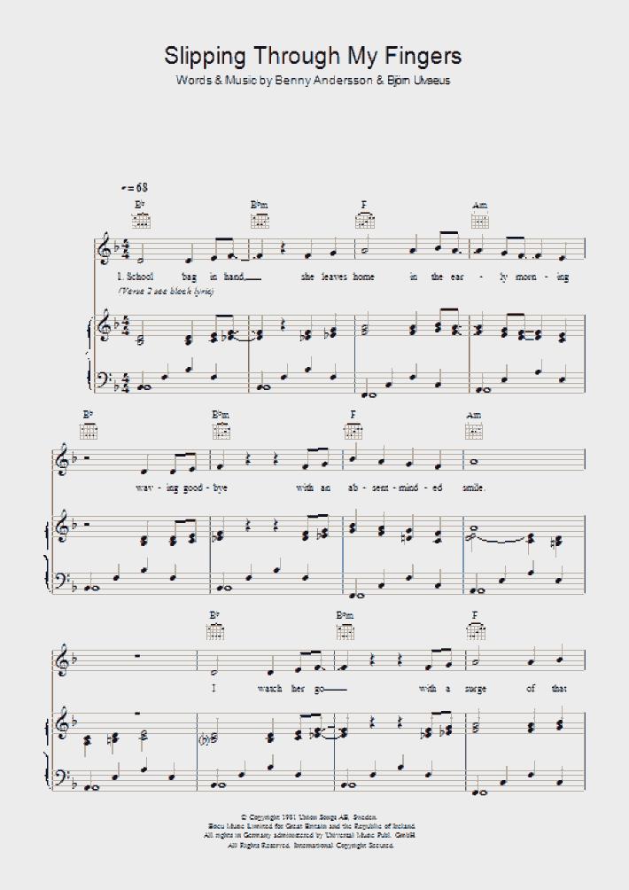 My Love, My Life Piano Sheet Music   OnlinePianist