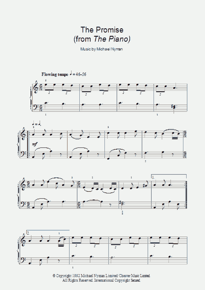 The Promise Piano Sheet Music   OnlinePianist