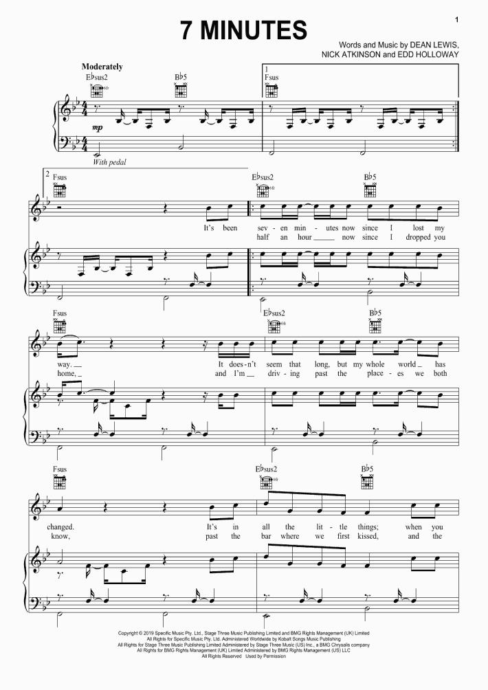 Dean Piano Sheet Music