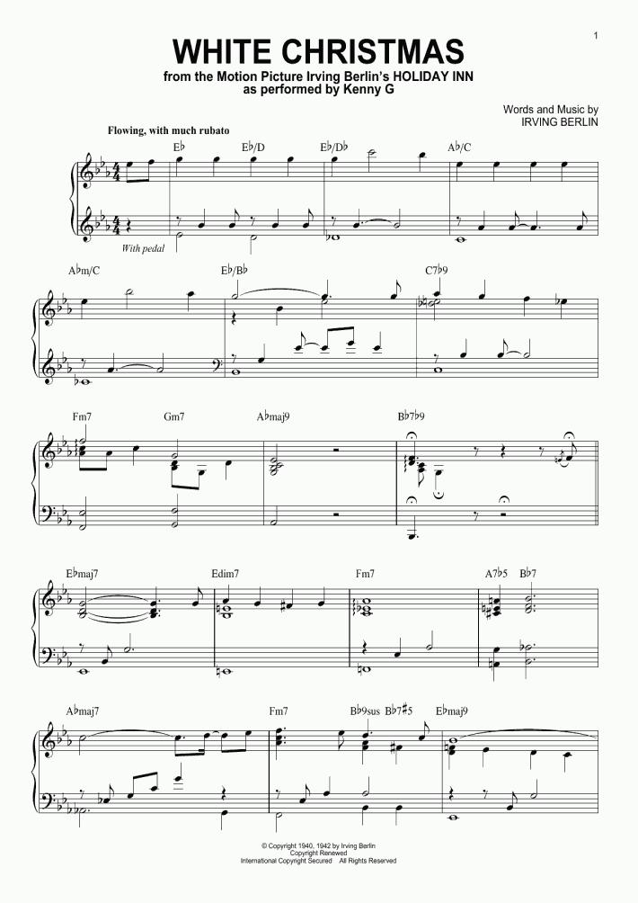 White Christmas Piano Sheet Music.White Christmas Piano Sheet Music Onlinepianist