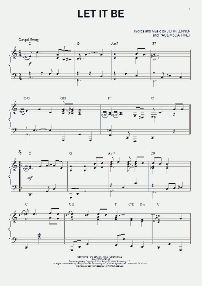 Let It Be [Jazz version] (arr. Brent Edstrom)