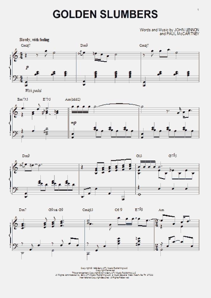 Golden Slumbers [Jazz version] (arr. Brent Edstrom)