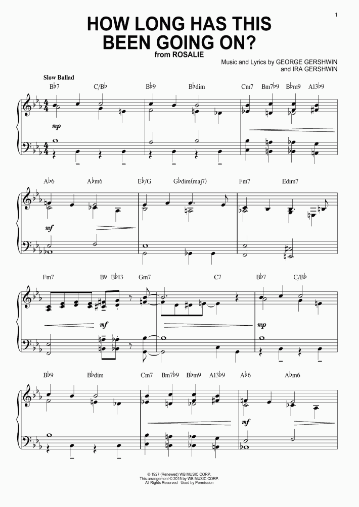 How Long Has This Been Going On? Piano Sheet Music