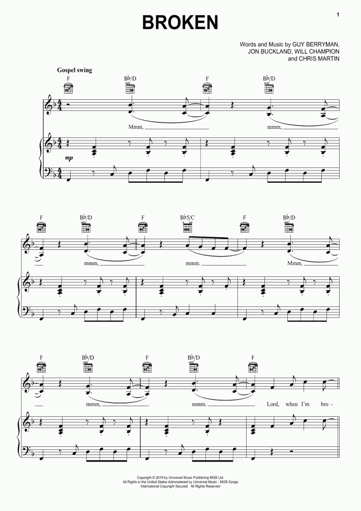 broken piano sheet music | onlinepianist  onlinepianist