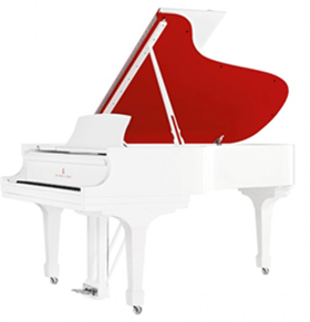 RED Parlor Grand Piano